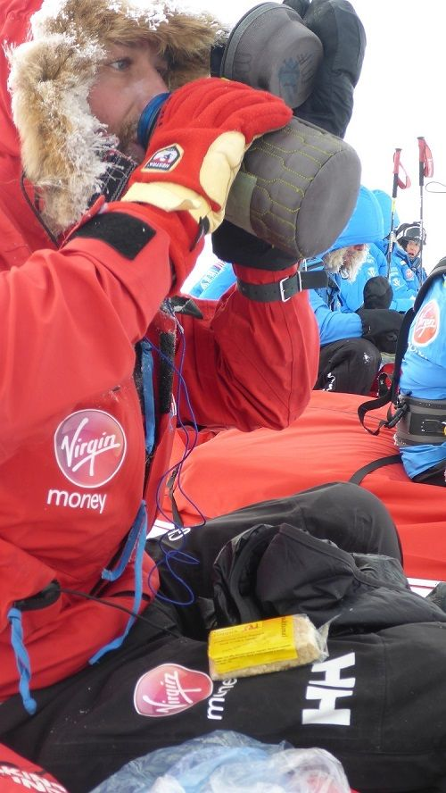 Walking With the Wounded take Dorset Flapjacks to the South Pole!
